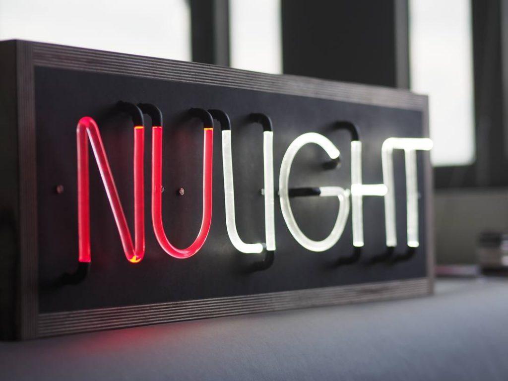 Nulight erstetzt Neonleuchtschrift