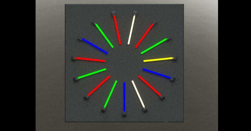 NuNeon - Farbkreis - dekorativer Farbkreis mit verschiedenen Lichtfarben
