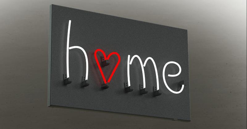 """Dekorative NuNeon-Leuchtschrift """"Home"""" von Nulight"""